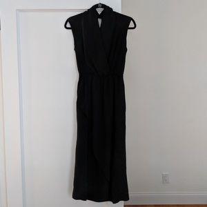 Vince silk slit back dress